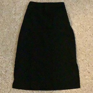 Pure navy black skirt